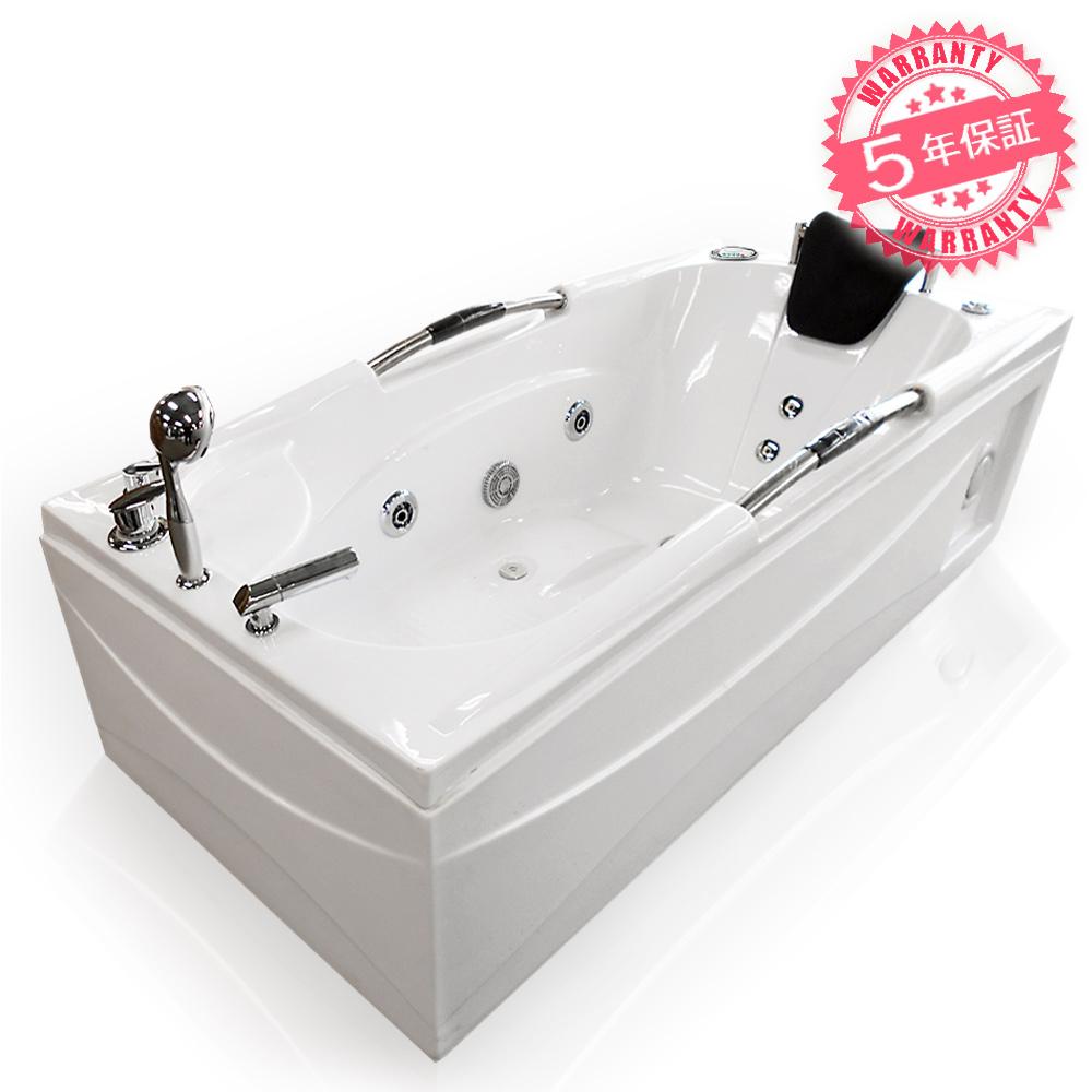 全商品を低価格、長期保証でご提供いたします。どうぞお客様ご自身でお確かめ下さい。 激安!ジャグジーW160xD80xH63・(8016-F)◆5年保証◆家庭用ジェットバス、ジャグジー浴槽・ホテルやログハウスなどで設置可能なバスタブ・お風呂・LEDライト、ラジオ付き浴槽・長方形タイプ・蛇口・ハンドシャワーあり、置き型バスタブ・組立簡単なアクアジェットバスタブ
