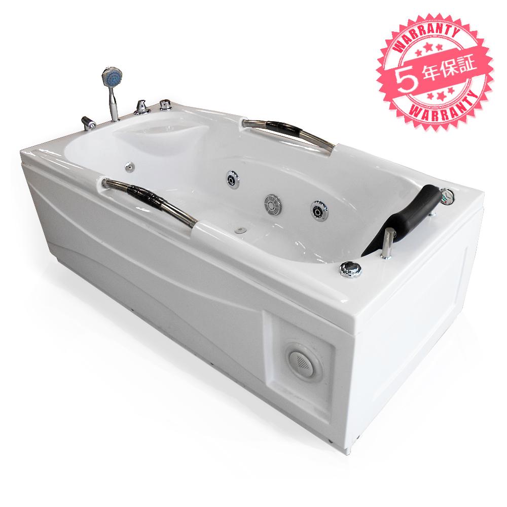 全商品を低価格、長期保証でご提供いたします。どうぞお客様ご自身でお確かめ下さい。 激安!ジャグジーW170xD80xH63・(8017-CP・左枕)◆5年保証◆家庭用ジェットバス、ジャグジー浴槽・ホテルやログハウスなどで設置可能なバスタブ・お風呂・LEDライト、ラジオ付き浴槽・長方形タイプ・蛇口・ハンドシャワーあり、置き型バスタブ