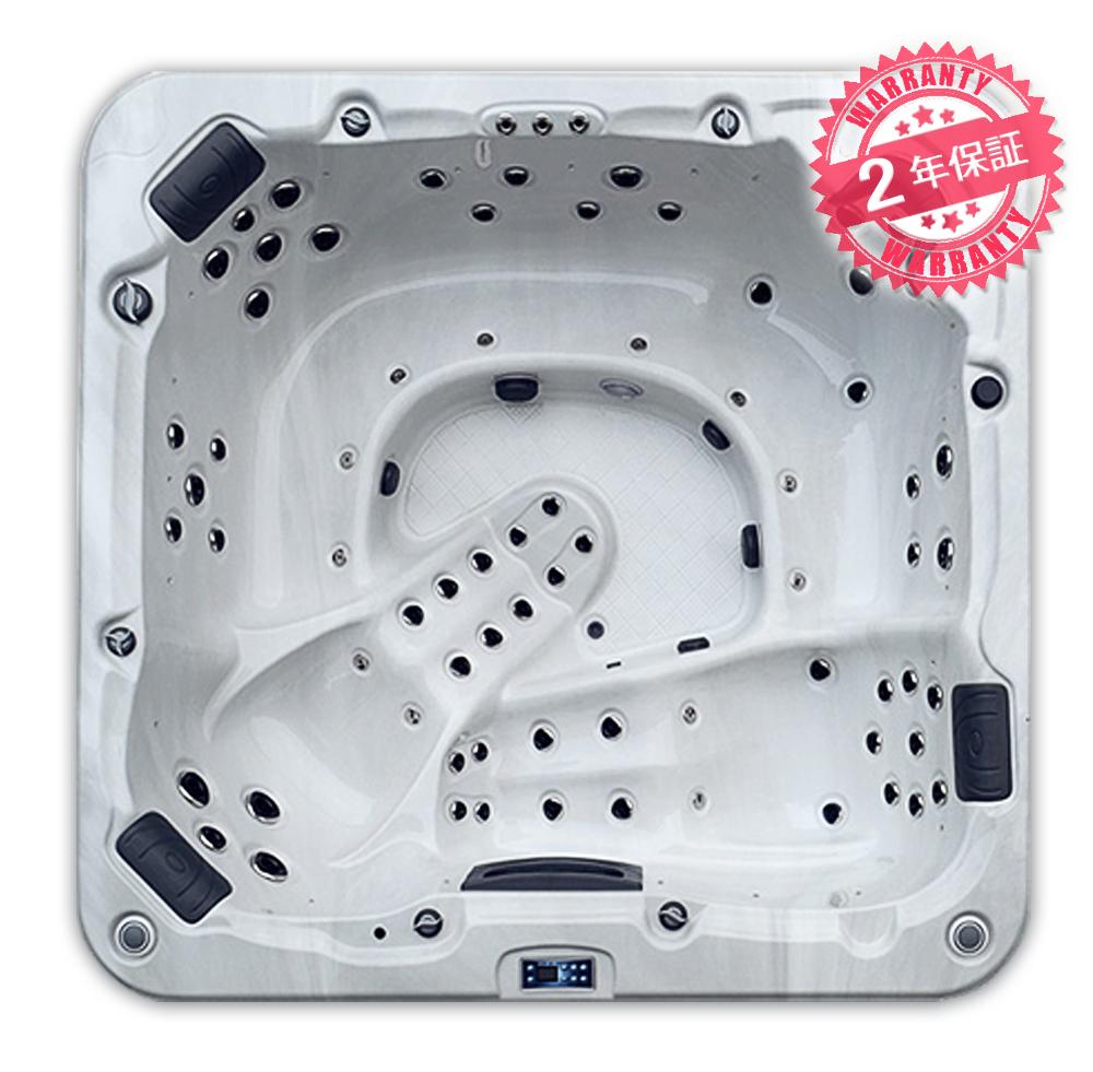 2年保証!【倉庫変更につき、在庫商品 特価にて販売中!】激安ジャグジースパ 高品質ジェットスパ(P960)サイズ:W238xD2225xH90・8人用◆大型ジェット浴槽・大型ジェットお風呂 ジェットノズルのオゾン洗浄あり、ヒーターで水が温まる LED照明付きジャグジーお風呂