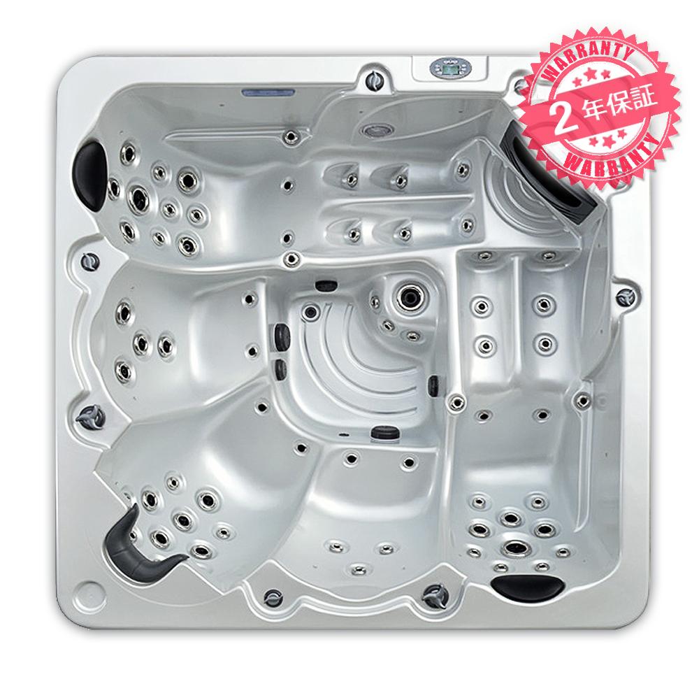 2年保証!激安ジャグジースパ 高品質ジェットスパ(A626)サイズ:W218xD218xH81・5人用◆大型ジェット浴槽 大型ジェットお風呂 エステテックサロン ホテル スパサロンに最適 ジェットノズルのオゾン洗浄あり ヒーターで水が温まる LEDライト 照明付きジャグジーお風呂