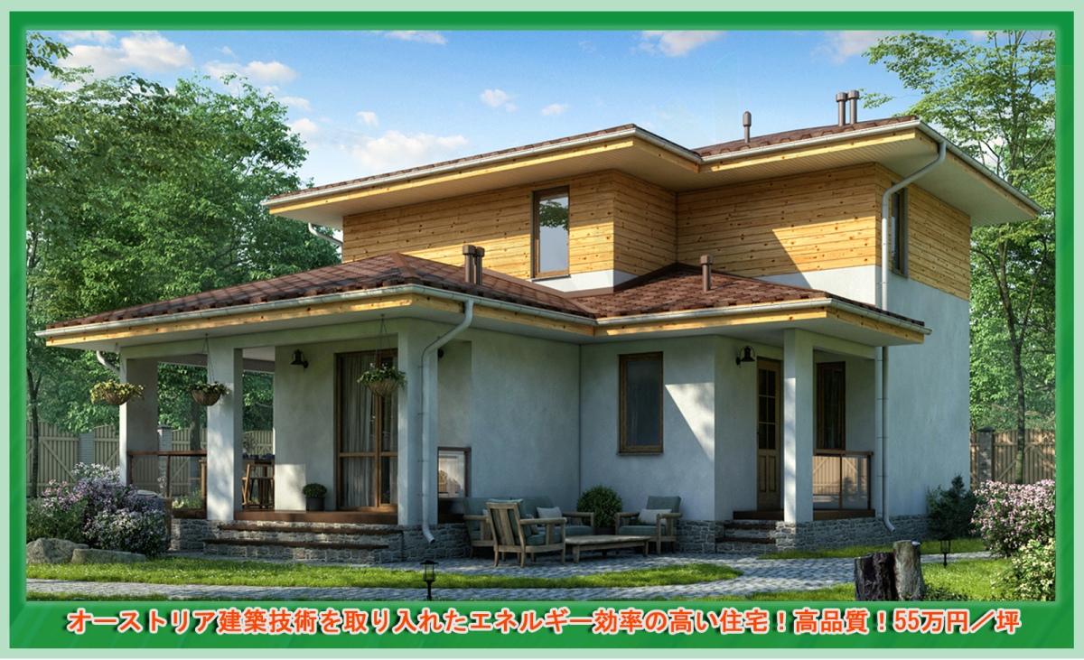オーストリア建築技術を取り入れたエネルギー効率の高い住宅!高品質!55万円/坪 注文住宅·お取り寄せ【PD-140-42,4坪】