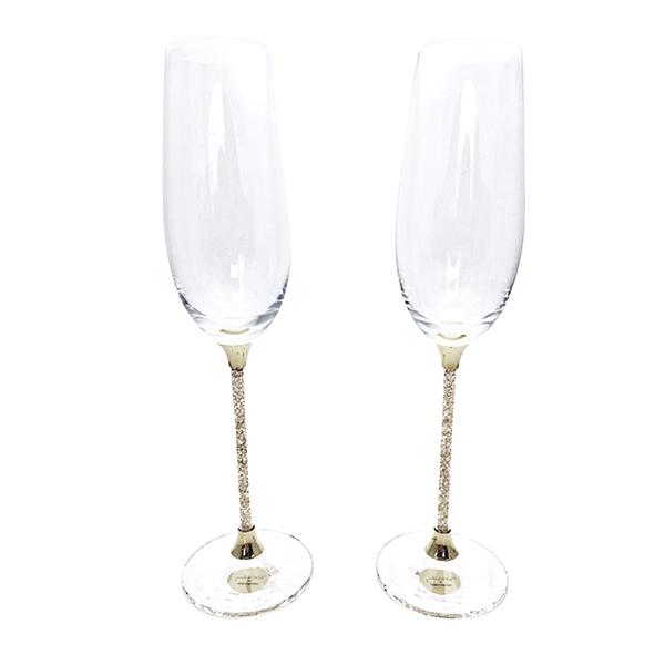 Sally Prize Hold A Swarovski Toe Sting Flute Champagne Glass Pair