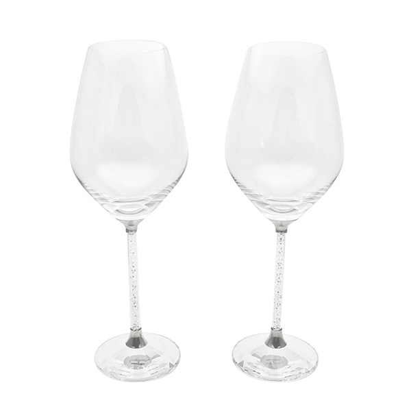 【SWAROVSKI CRYSTALLINE TOASTING FLUTES】赤ワイングラス ペアセット 結婚祝い 名入れ 贈り物 名前入り オーダーメイド グラス ペア 送料無料 ギフト 結婚記念日 両親 カップル ペアギフト