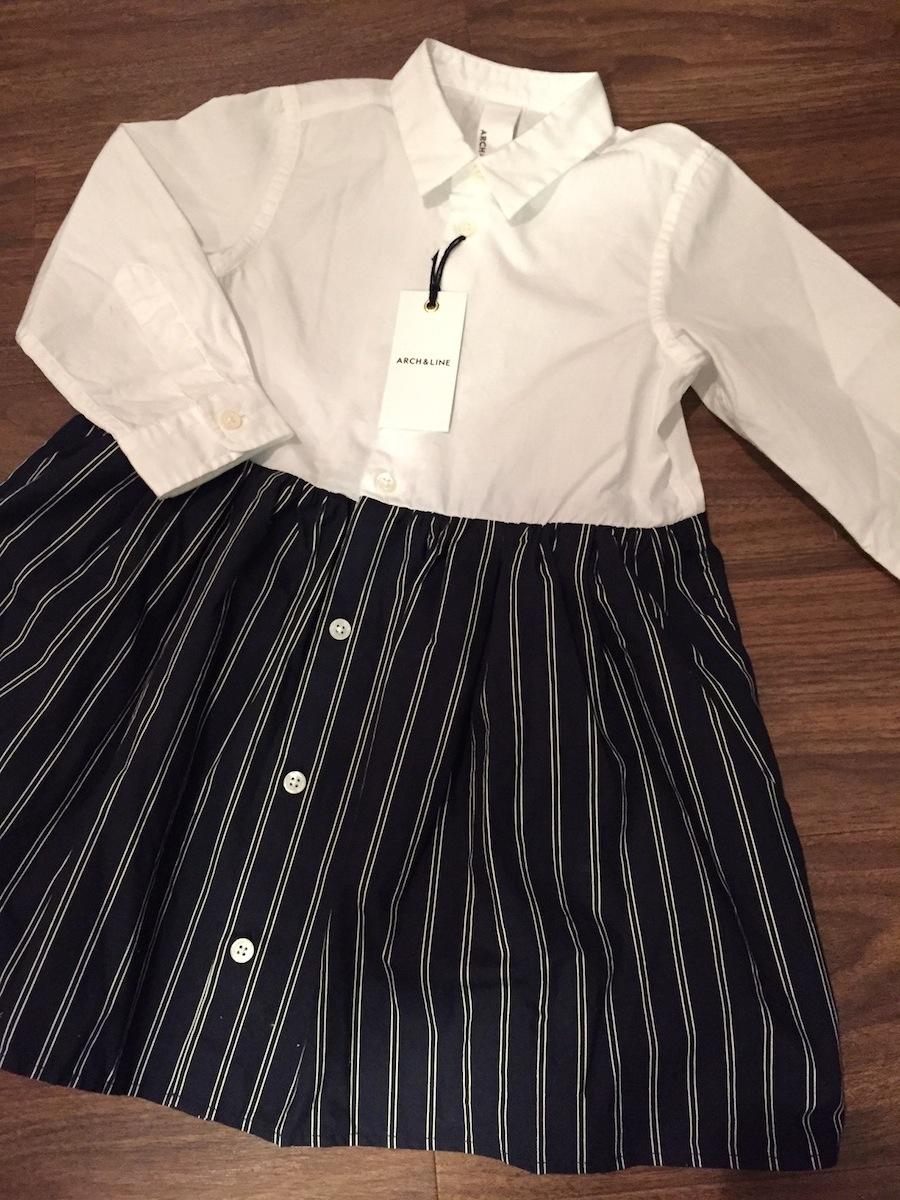 子供服 キッズ ARCH&LINE アーチ&ライン ワンピース シャツ 女の子 3 4 5 6 7 才 かわいい おしゃれ 日本 国内ブランド