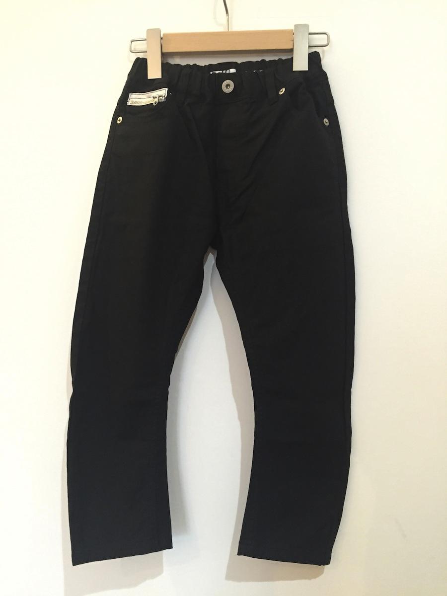 アーチアンドライン 黒パンツ ブラックパンツ ユニセックス バナナパンツ 黒ズボン 男の子 女の子