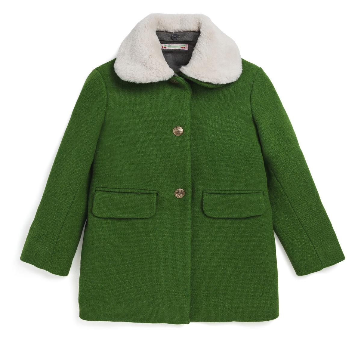 SALE bonpoint ボンポワン コート グリーンコート ファー取り外し可能 4a 6a 4歳 5歳 6歳 7歳