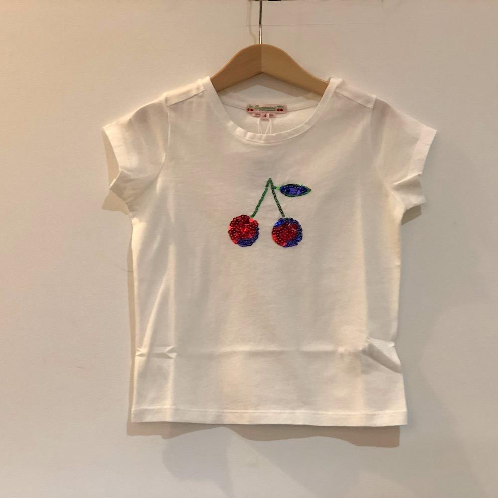 bonpoint ボンポワン Tシャツ 女の子 コットン素材 チェリー柄