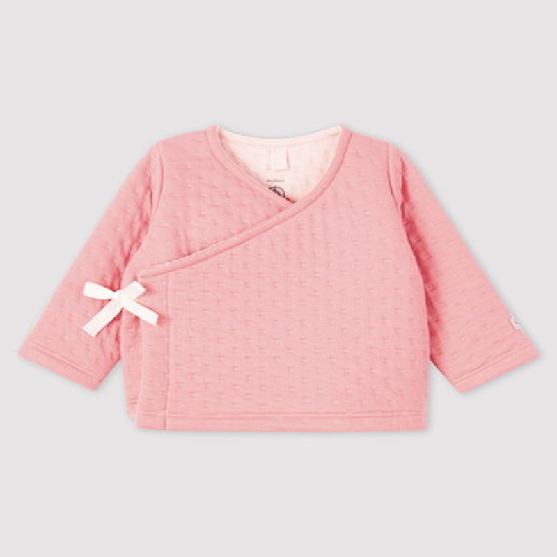 フランス国民的ブランドです 実物 プチバトー セットアップ 女の子ベビー トレンド ピンクセットアップ 出産ギフト ご出産祝い お誕生プレゼント あったかセットアップ