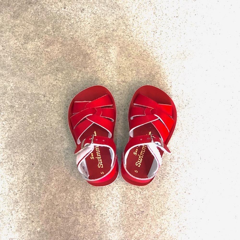 saltwater ソルトウォーター サンダル 本革サンダル 水陸両用サンダル 水遊び オシャレ 男の子 女の子 swimmer 赤 レッド