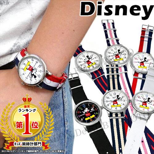 迪士尼手錶米奇手錶北約類型錶帶所有 4 色迪士尼帶施華洛世奇軍事手錶三色有限的帶替換米奇老鼠中性字元。