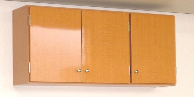 【完成品】鏡面扉 吊り戸棚幅90奥行S(22cm)タイプ 洗面所収納 トイレ収納