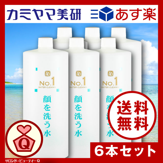 No.1・顔を洗う水・ウォータークリーナー・1000ml(6本セット)【カミヤマ美研】【送料無料】