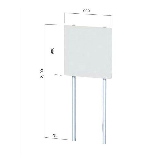「野立て看板(NECO-6)」表示加工費・デザイン料込(表示面サイズ:W900×H900mm)【データ入稿可】【大型宅配便】【代引不可】