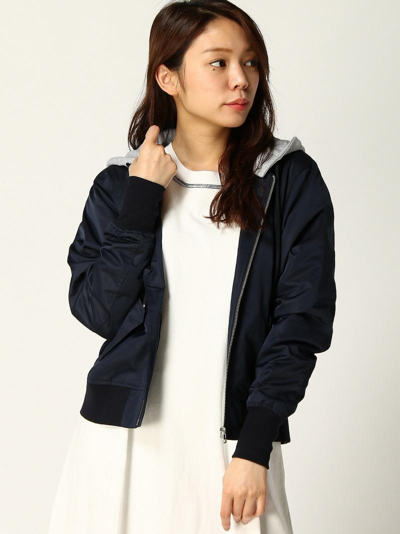 [Rakuten Fashion]【SALE/50%OFF】フード付きMA-1 Samantha Vega サマンサ ベガ コート/ジャケット ブルゾン ネイビー ピンク イエロー【RBA_E】【送料無料】