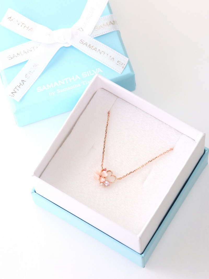 SAMANTHA SILVA flower Heart Necklace samansasilva