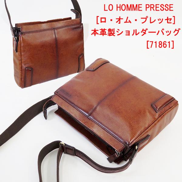 LO HOMME PRESSE [ロ・オム・プレッセ] 本革製ショルダーバッグ 71861
