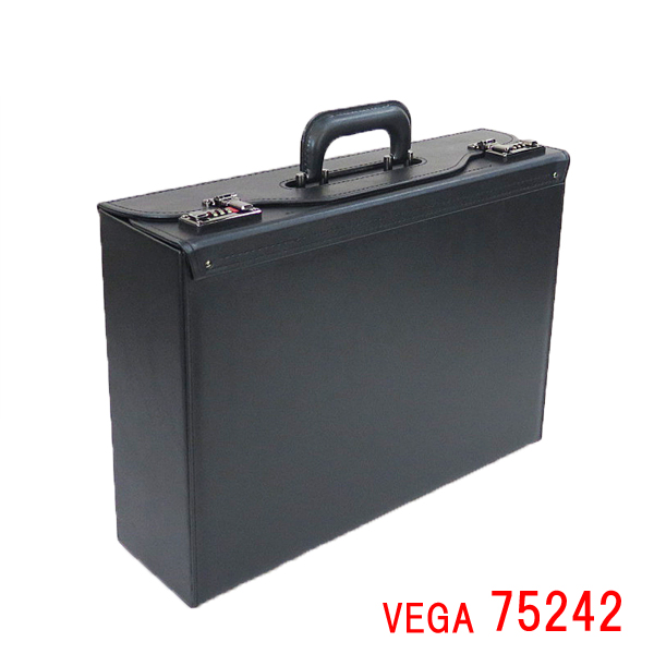 VEGA ベガ フライトケース 75242 日本製 イケテイ IKETEI パイロットケース ダイアル式錠前 ダイヤルロック ナンバーキー メンズ A3 A3F 48cm 大容量 通勤 資料・書類 出張 学会 プレゼン カタログ パンフレット ランキング