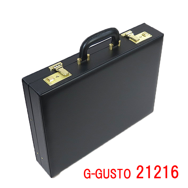 Gガスト 国産ハード・アタシュケース 21216 G-GUSTO B4ファイル メンズ ハードケース PVC 合成皮革 日本製 豊岡 営業 通勤 紳士 かばん 鞄 B4 B4サイズ ブラック 黒 おしゃれ ギフト ランキング