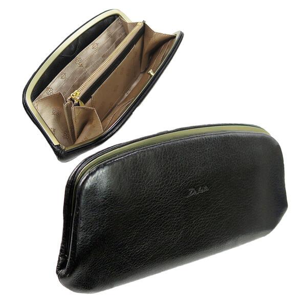 Dakota ダコタ グラツィア 長財布 0036542(ブラック) がま口ウォレット レディース 日本製 薄マチ 本革 ギフト プレゼント 贈り物