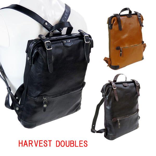 HARVEST DOUBLES[ハーヴェスト・ダブルス] 本革リュック JUE-7360 口枠式