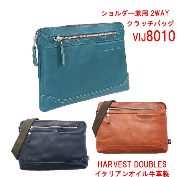 HARVEST DOUBLES [ハーヴェスト・ダブルス] 本革製 2WAYショルダーバッグVIJ8010 セカンドバッグ