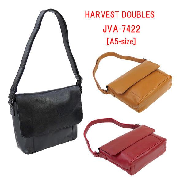 HARVEST DOUBLES [ハーヴェスト・ダブルス] 本革製 フラップ・ショルダーバッグ JVA-7422