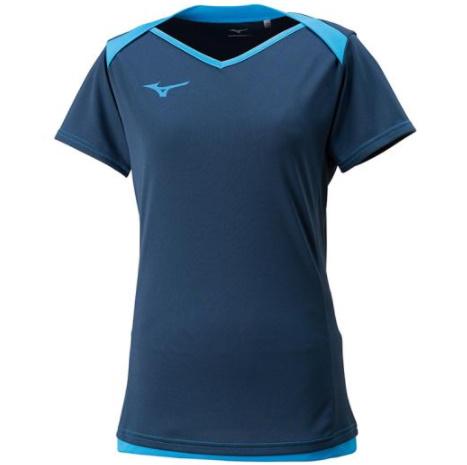 ミズノ MIZUNO プラクティスシャツ レディース 半袖 バレーボール ウィメンズ 格安 価格でご提供いたします ドレスネイビー×ディーバブルー ゲームシャツ V2MA828314 取り寄せ商品 送料無料限定セール中 18ss ウェア