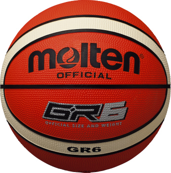 molten モルテン ゴムバスケットボール GR6《BGR6-OI》【取り寄せ商品】オレンジ×アイボリー