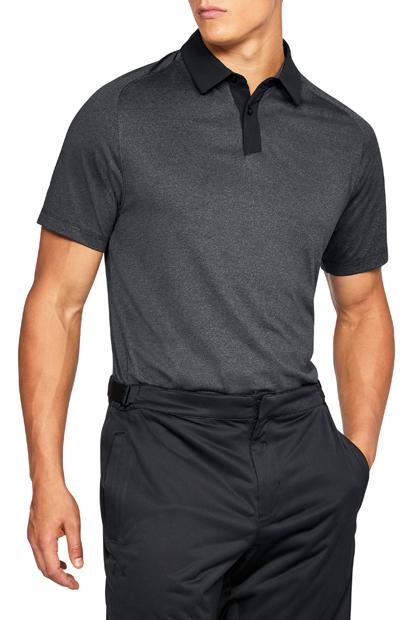 UNDER ARMOUR アンダーアーマー スレッドボーンポロ(ゴルフ/ポロシャツ/MEN)メンズ UA Threadborne Polo《1306111_001》【取り寄せ商品】【001】BFH/BLK/RGY