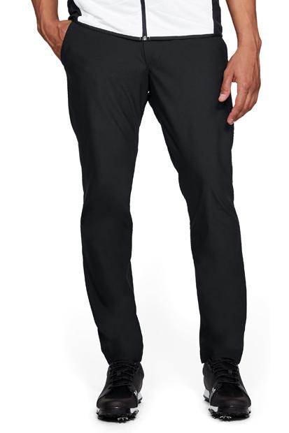 【13周年特別クーポン配布中】アンダーアーマー(UNDER ARMOUR) メンズ ゴルフパンツ マイクロスレッドテーパード(ゴルフ/ロングパンツ/MEN)[UA Threadborne Pant Taper《1309645_001》【取り寄せ商品】【001】BLK/RGY