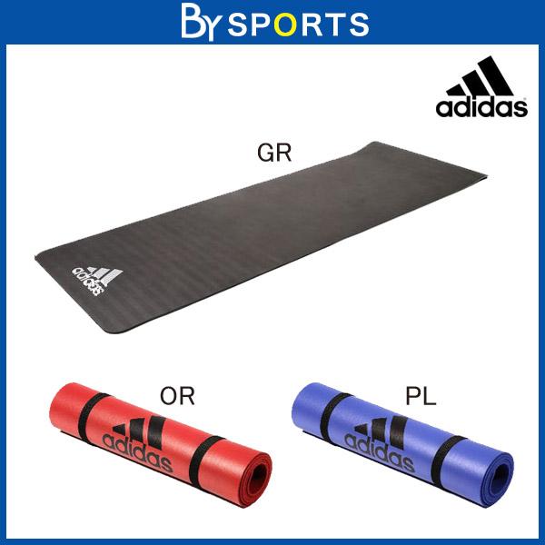 【フィットネス/トレーニング】 [adidas training] (アディダス) / トレーニングマット エリート 〔エクササイズマット〕 ブラックロゴ adidas (173cm×61cm×0.8cm)