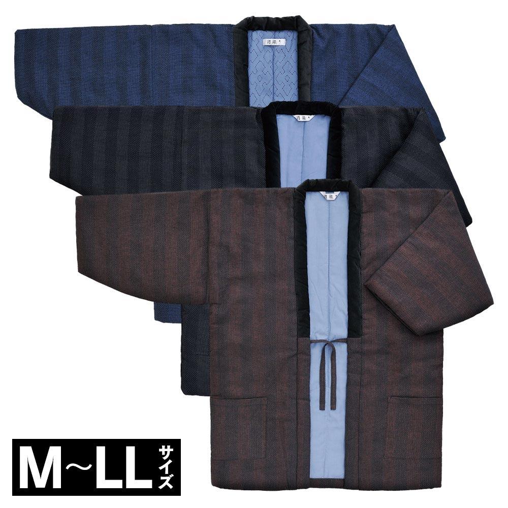 纏織りはんてん(紺・黒・茶)(M-LL)