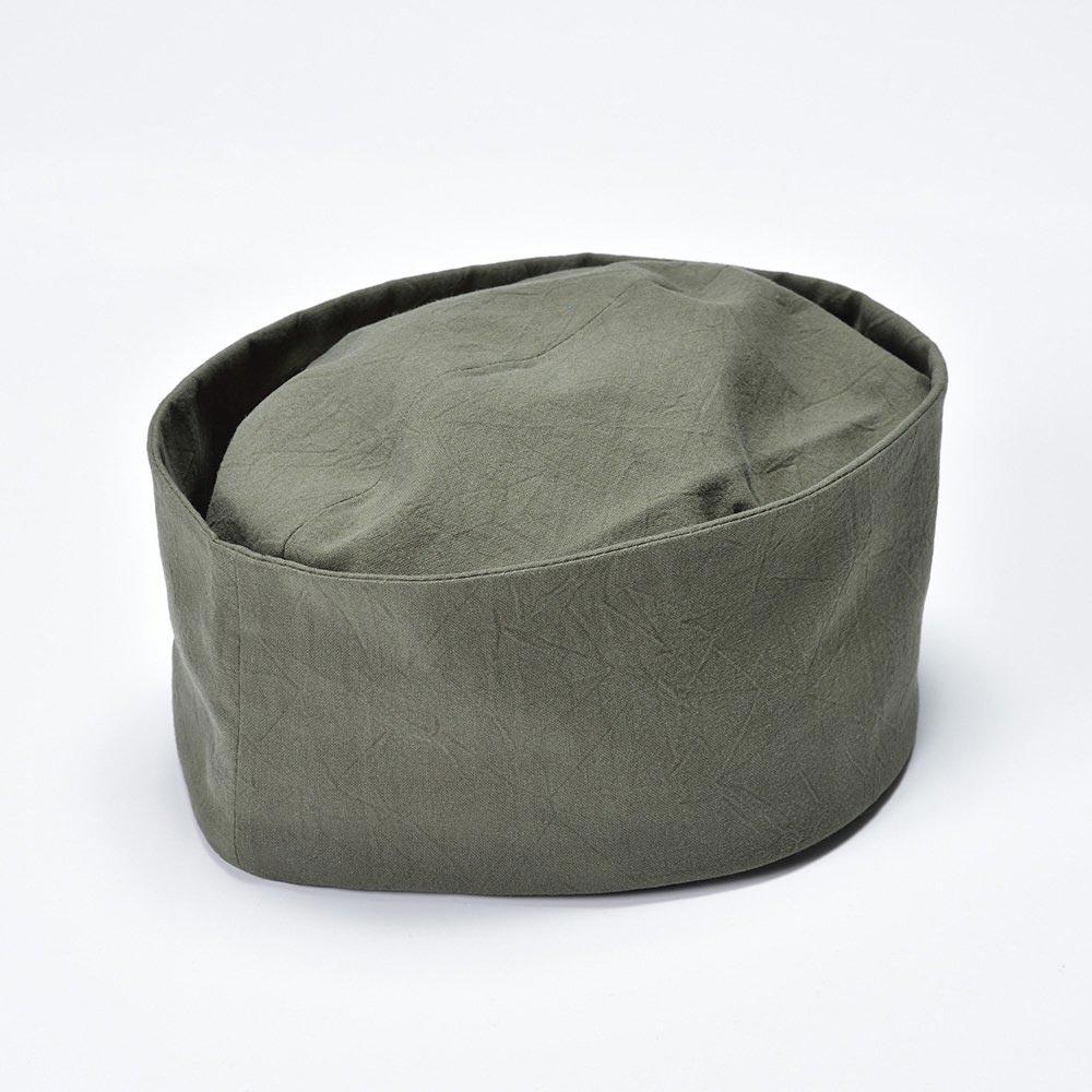【クリスマスSALE開催中!】茶匠形 綿無地利休帽 緑(L)