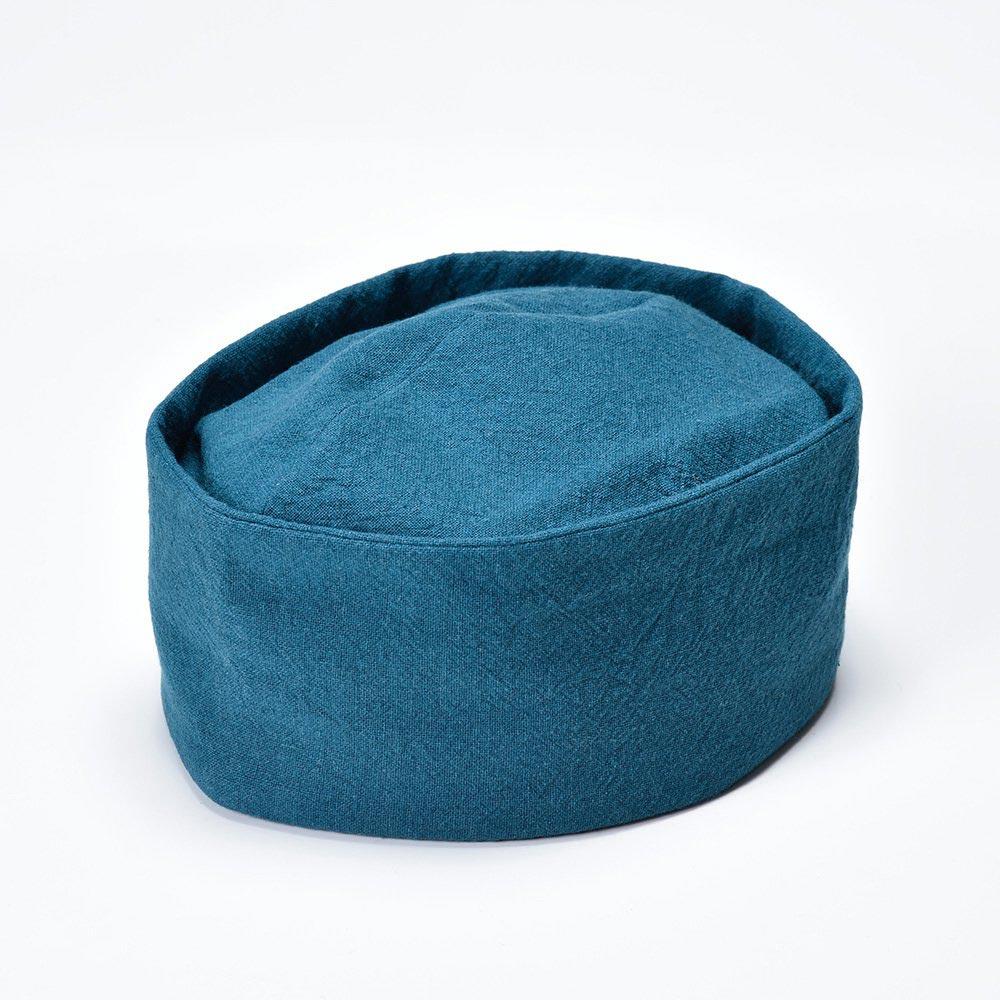 【クリスマスSALE開催中!】茶匠形 綿麻利休帽 緑(S-M)