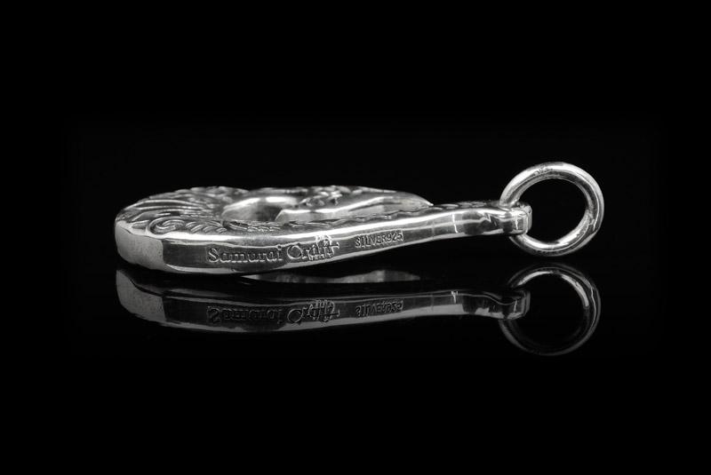【Samurai Craft】 サムライクラフト ペンダントトップ フックタイプ 釣り針 ロゴ刻印 オリジナル ネックレス シルバー アクセサリー SV925 0601 楽天カード分割