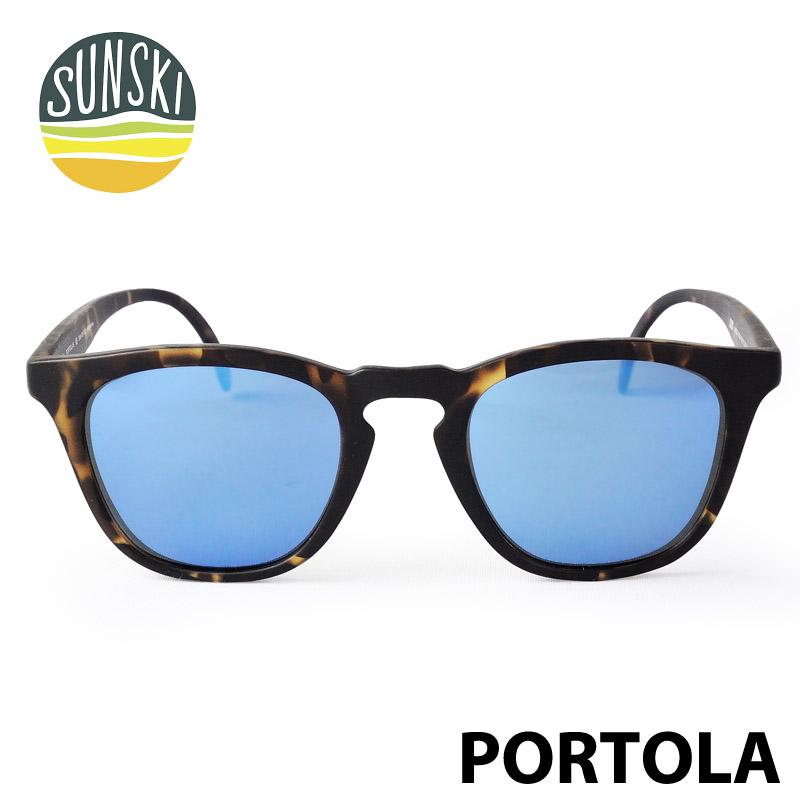 【SUNSKI】 サンスキー サングラス SUN-PO-TAQ 偏光サングラス PORTOLA ポルトラ Tortoise / Aqua 眼鏡 雪山 オールシーズン アメカジ 0601カード分割