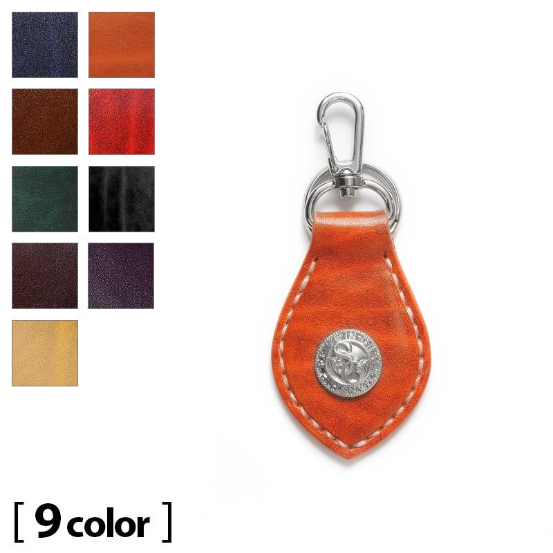Samurai Craft  Leather key ring Keychain Legato shoulder Orange ... bf44044d59b3
