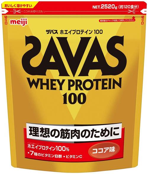 【あす楽】明治 ホエイプロテイン100 ココア味【120食分】 2,520g ロード MTB