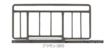 [フランスベッド] ショートサイズベッド専用サイドレール  SR-100JJS (2本1組)
