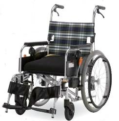 [フランスベッド] 自走型車いす セーフティオレンジ (セーフティーブレーキ搭載、ノーパンクタイヤ仕様) 200075735