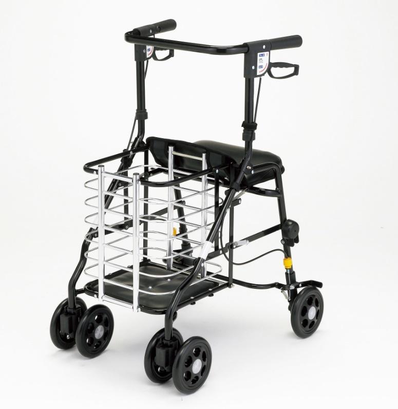 [マキテック] オアシスワゴン HM-W1 シルバーカー 押し車 買い物カゴ置き付 介護用 高齢者用 歩行補助 折りたたみ可能 MAKITECH