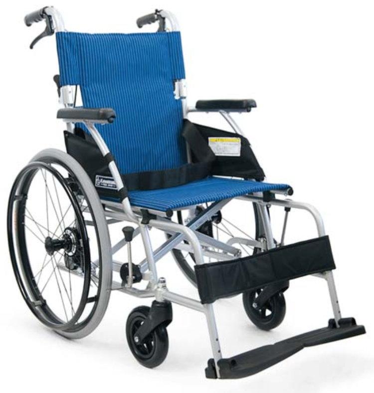 [カワムラサイクル] アルミフレーム自走用車いす(軽量ベーシックモジュール) BML20-40SB<後輪ソフトタイヤ>(低床タイプ・前座高40.5cm)