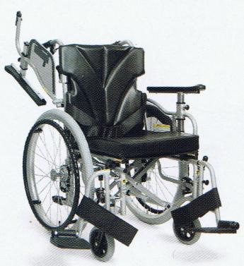 [カワムラサイクル] 中床型簡易モジュール自走用車いす <スイングアウト仕様>KZM22-40(38・42)-43(41・45)