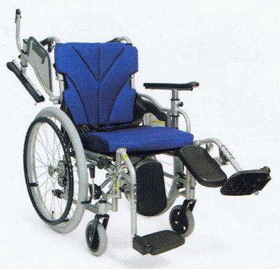 [カワムラサイクル] 中床型簡易モジュール自走用車いす <エレベーティング&スイングアウト仕様>KZM22-40(38・42)-43(41・45)EL