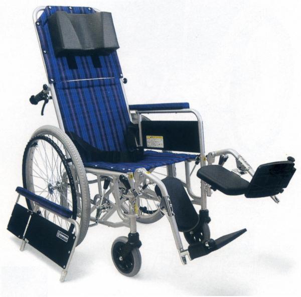 [カワムラサイクル] アルミ製自走用リクライニング車椅子 RR52-N (介助ブレーキなし)