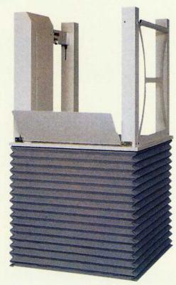 [新光産業] 車いす用段差解消機 据置型 テクノリフター TDK100 (昇降範囲6.5~106.5cm)