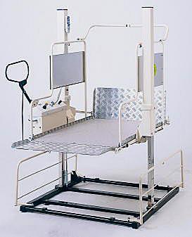 [いうら] 車椅子用電動昇降機 屋外用 UD-550 120cm仕様(昇降範囲6.5~120cm)
