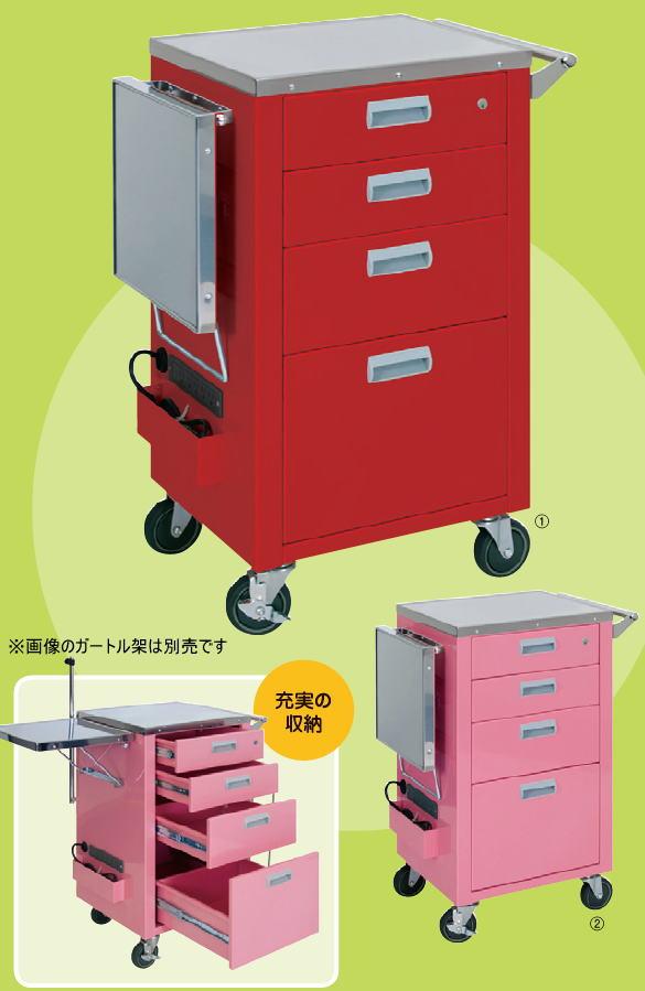 [] マイスコ救急カート コンパクトタイプ MY-4650
