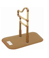 [山崎産業] 楽起 らっきぃ 波型 介護 玄関 段差昇降 置き型 置くだけ 簡単設置 工事不要 重量21kg 手すり高さ71~85cm