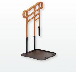 [モルテン]ルーツHS あがりかまちタイプ 高さH 片手すり ステップ台付 MNTPMKH1SBR